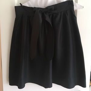 Anthropologie Idra Silk Skirt with Bow